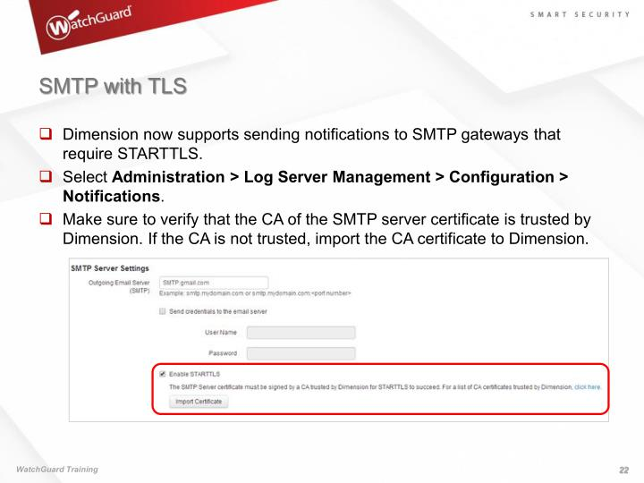 SMTP with TLS