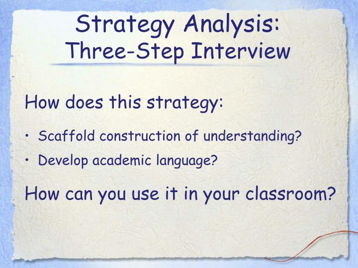 Strategy Analysis: