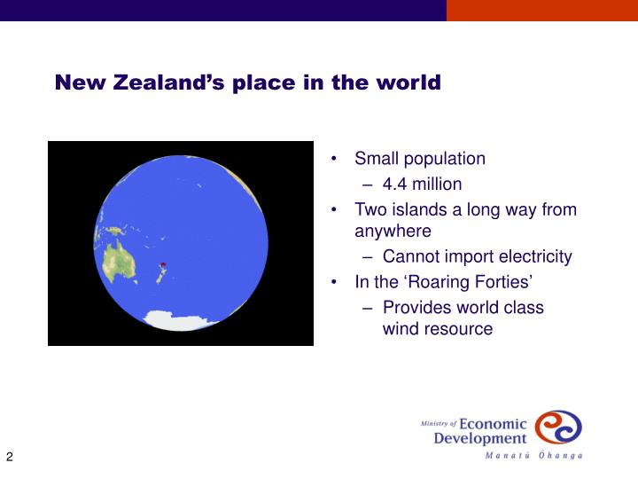 New zealand s place in the world