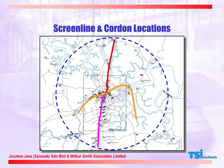 Screenline & Cordon Locations
