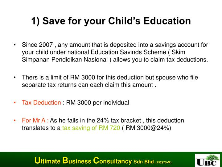 1) Save for your Child's Education