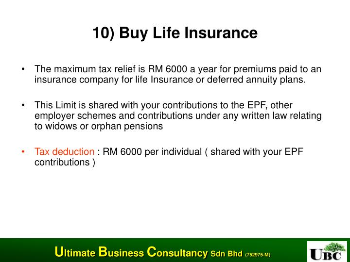 10) Buy Life Insurance