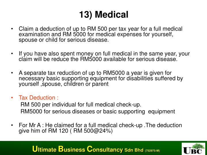 13) Medical