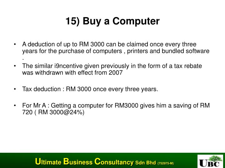 15) Buy a Computer