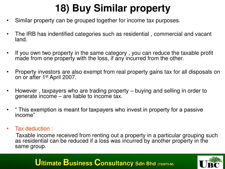 18) Buy Similar property