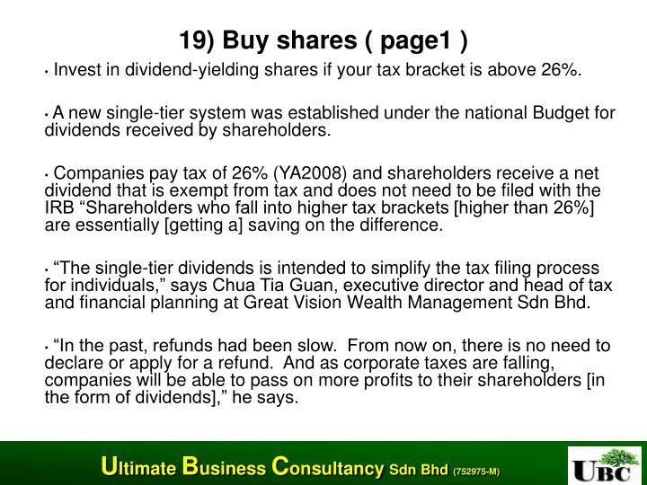 19) Buy shares ( page1 )
