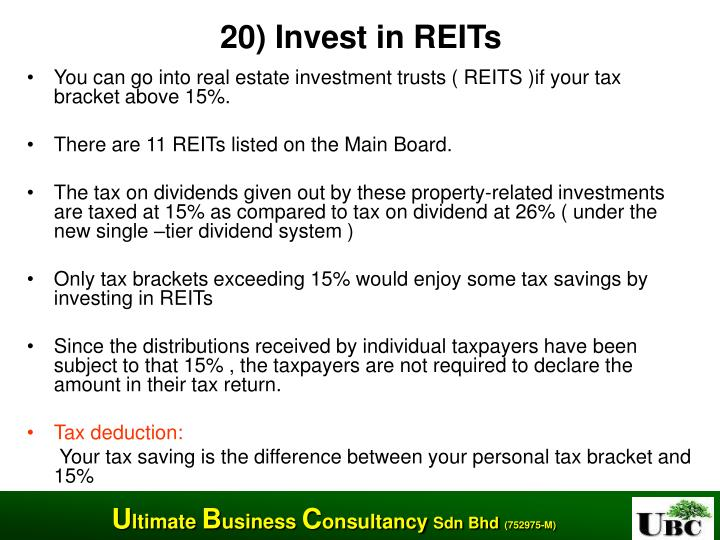 20) Invest in REITs