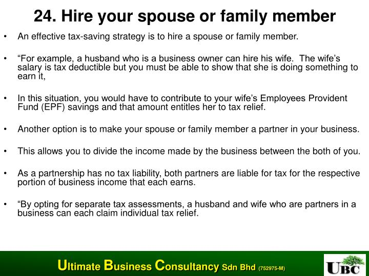 24. Hire your spouse or family member