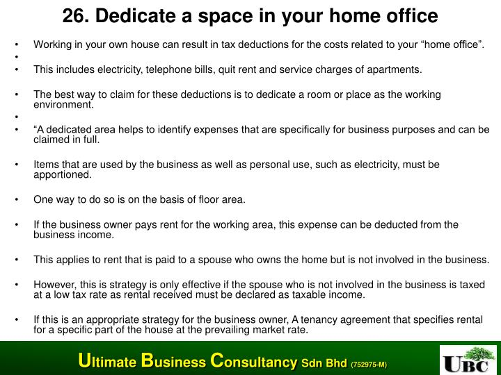 26. Dedicate a space in your home office