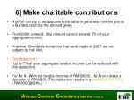 6 make charitable contributions