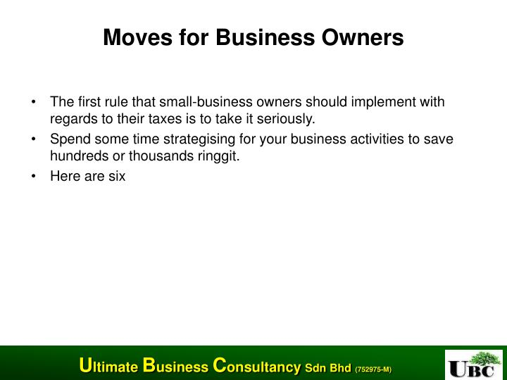 Moves for Business Owners