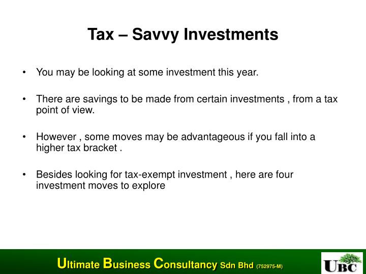 Tax – Savvy Investments