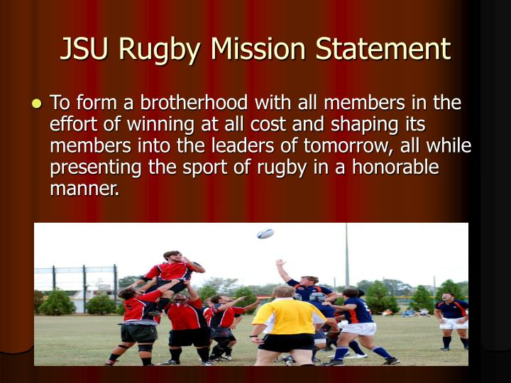 JSU Rugby Mission Statement