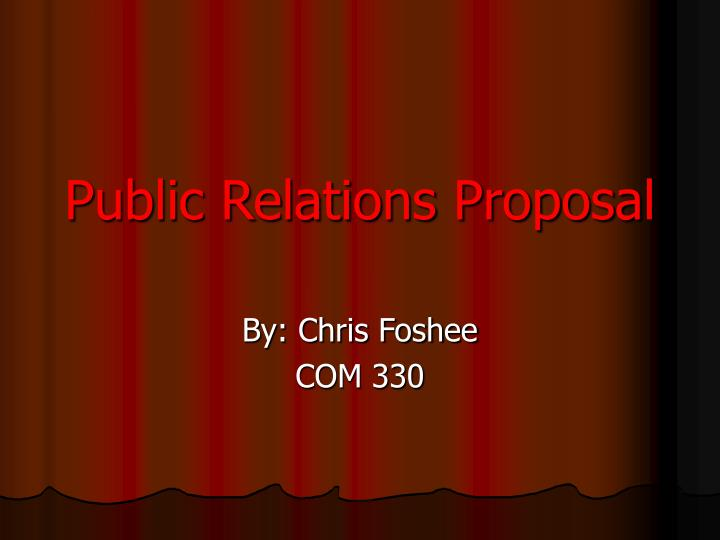 public relation proposal Set up your public relations plan for the year developing a pr plan want to make sure your business's name gets heard this year you need to plan for pr.