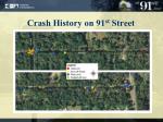 crash history on 91 st street2
