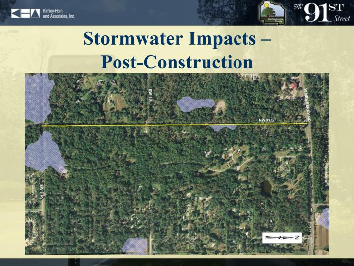 Stormwater Impacts –