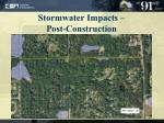 stormwater impacts post construction