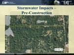 stormwater impacts pre construction