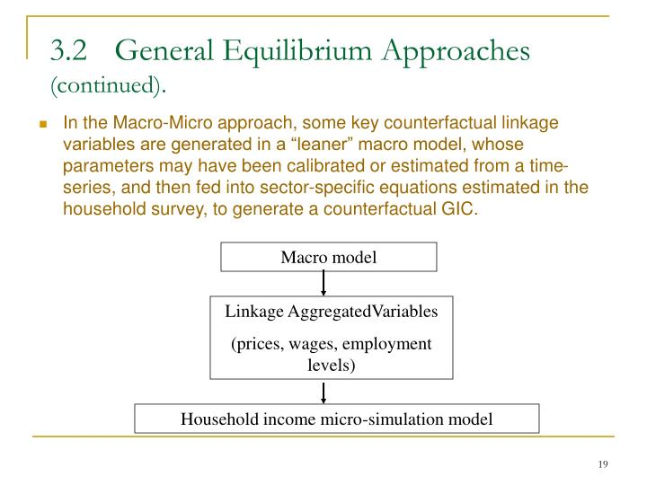 3.2	General Equilibrium Approaches