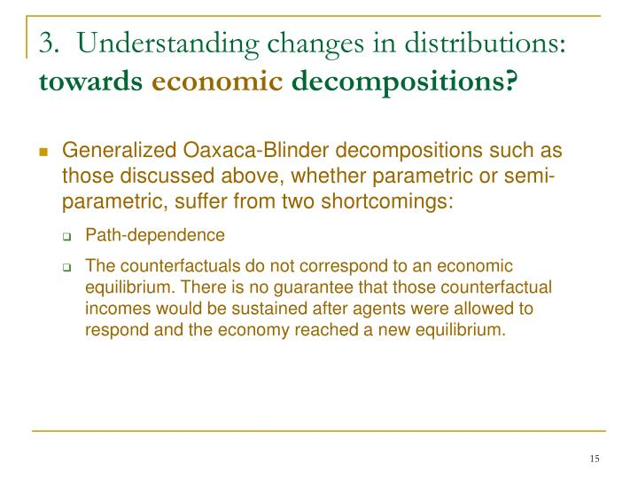 3.  Understanding changes in distributions: