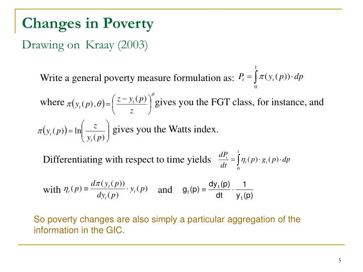 Changes in Poverty