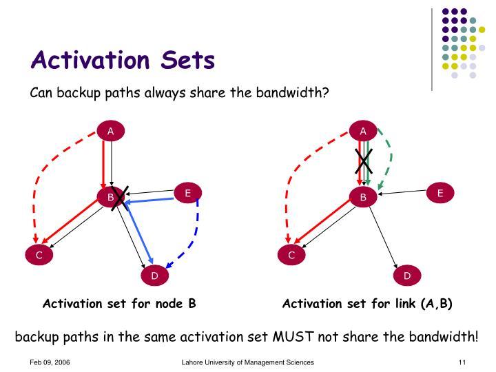 Activation Sets