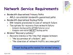 network service requirements