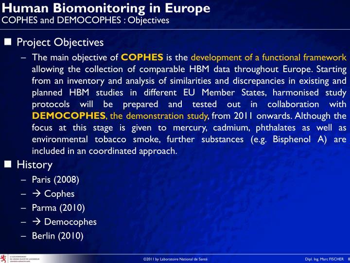 Human Biomonitoring in Europe