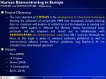 human biomonitoring in europe cophes and democophes objectives