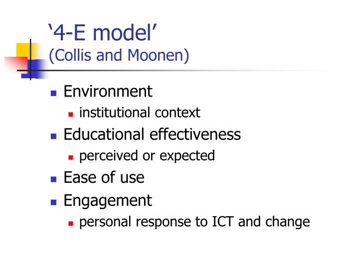 '4-E model'