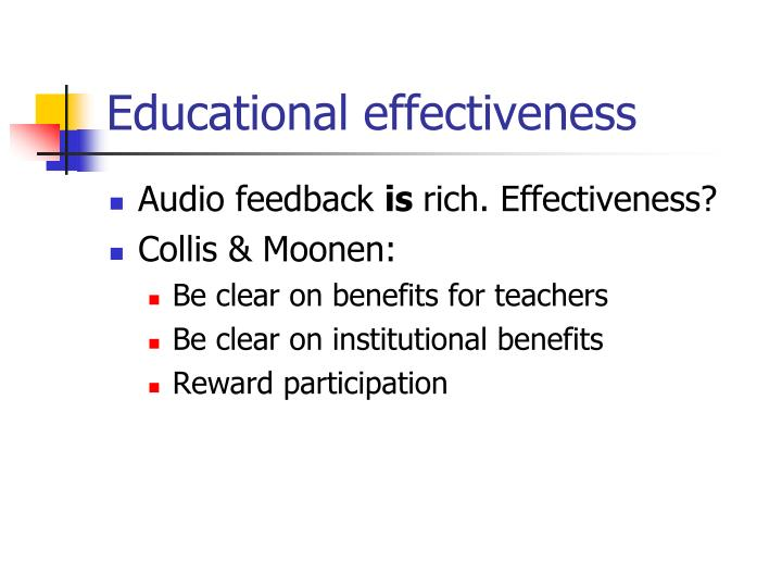 Educational effectiveness