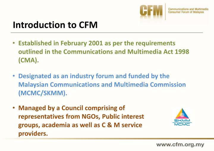 Introduction to CFM