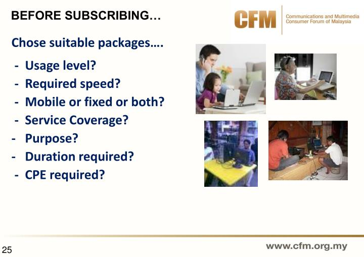 Chose suitable packages….