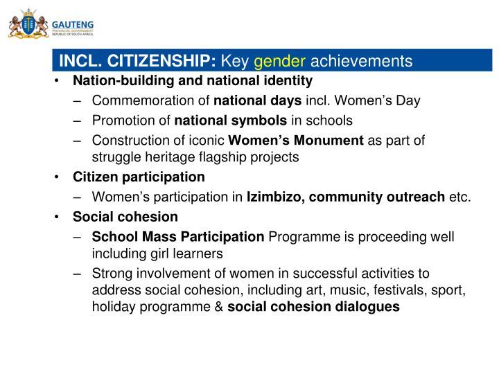 INCL. CITIZENSHIP: