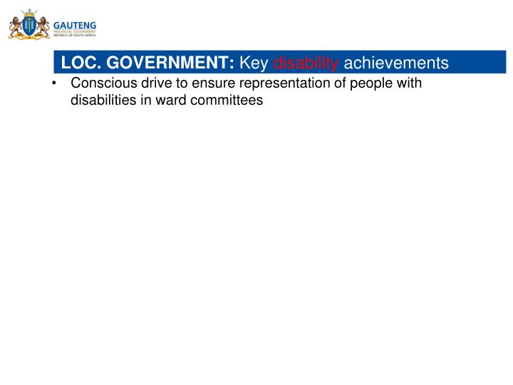 LOC. GOVERNMENT: