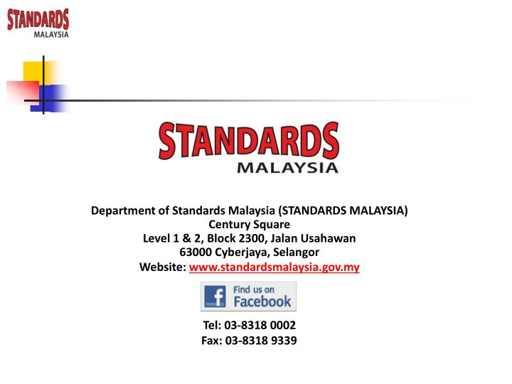 Department of Standards Malaysia (STANDARDS MALAYSIA)