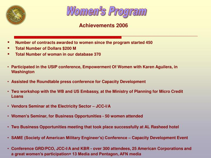 Achievements 2006