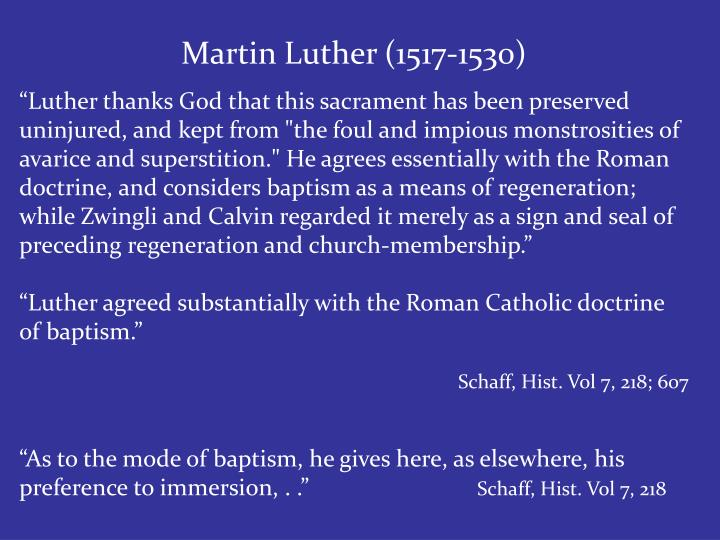Martin Luther (1517-1530)