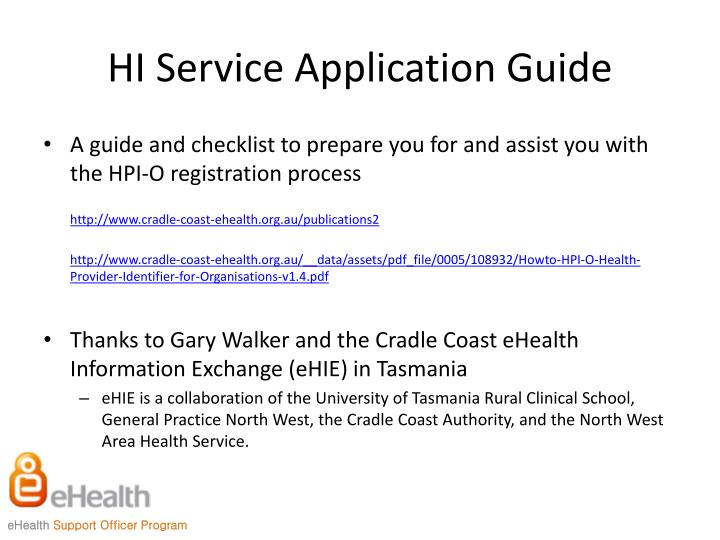 HI Service Application Guide