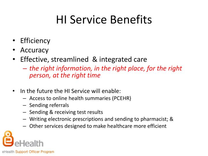 HI Service Benefits