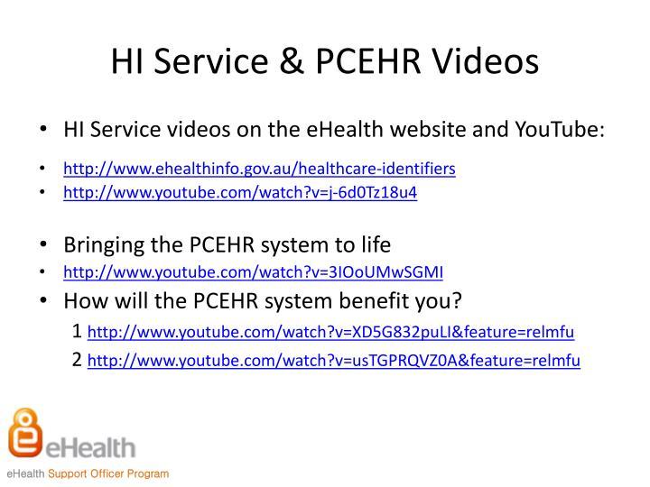 HI Service & PCEHR Videos