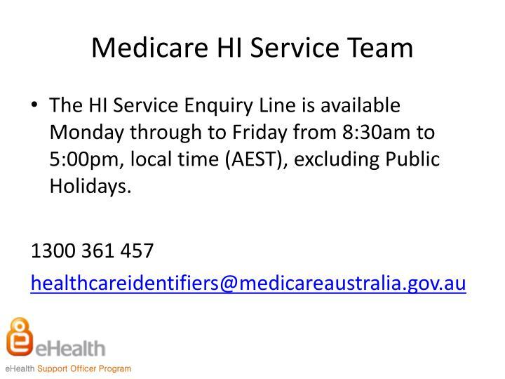 Medicare HI Service Team