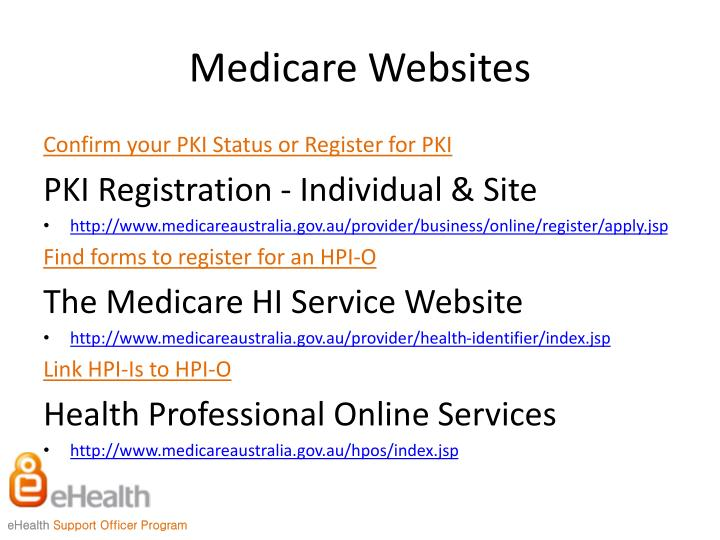 Medicare Websites