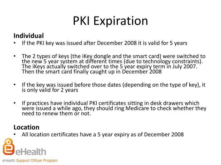 PKI Expiration