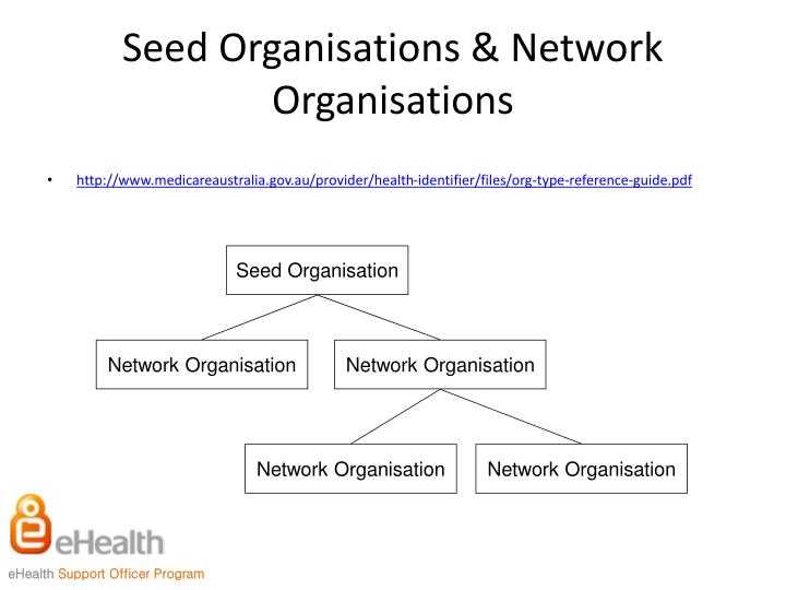 Seed Organisations & Network Organisations