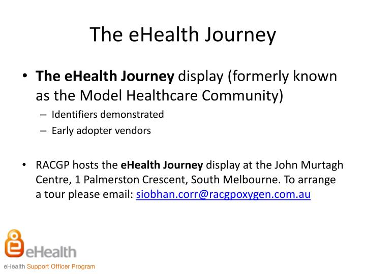 The eHealth Journey