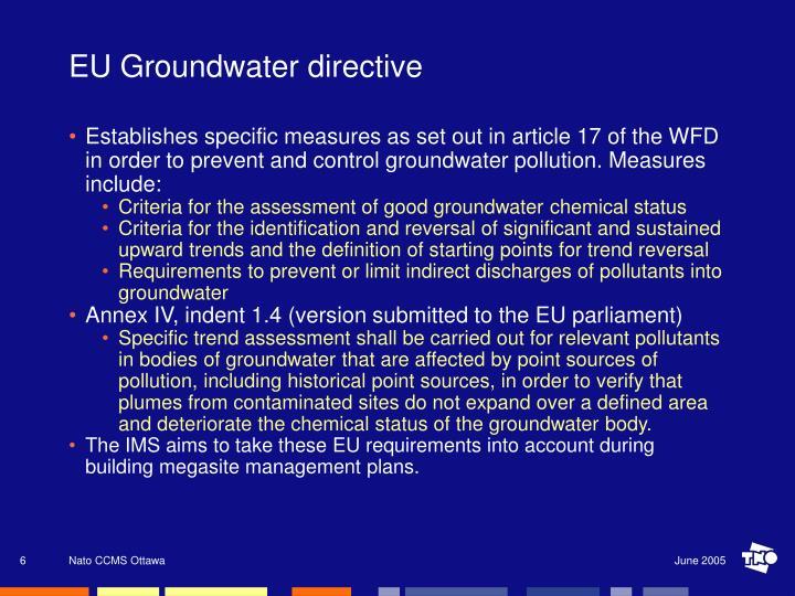 EU Groundwater directive