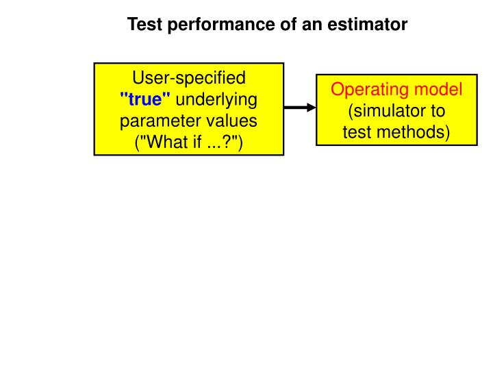 Test performance of an estimator