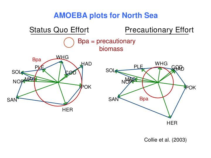 AMOEBA plots for North Sea