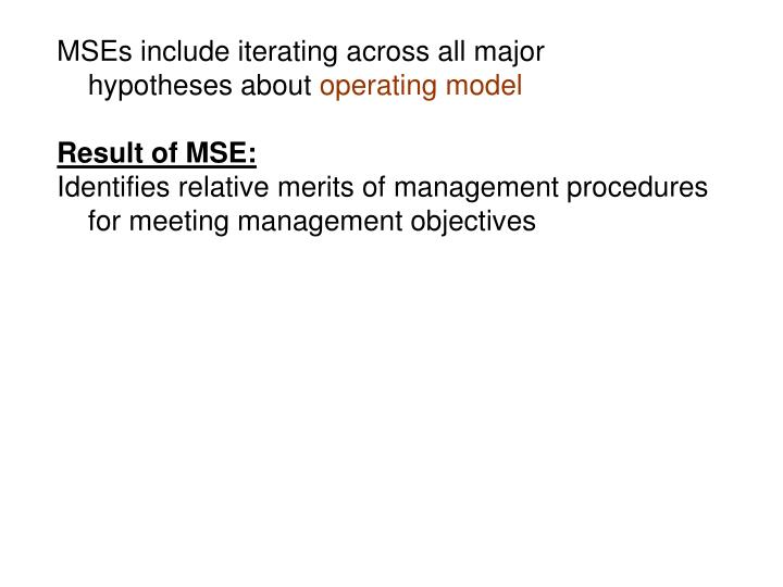 MSEs include iterating across all major